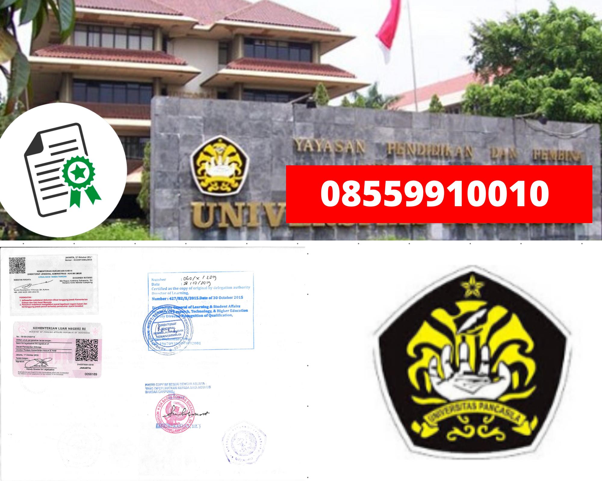 Legalisir Ijazah Universitas Pancasila Di Kemenristek Dikti || 08559910010