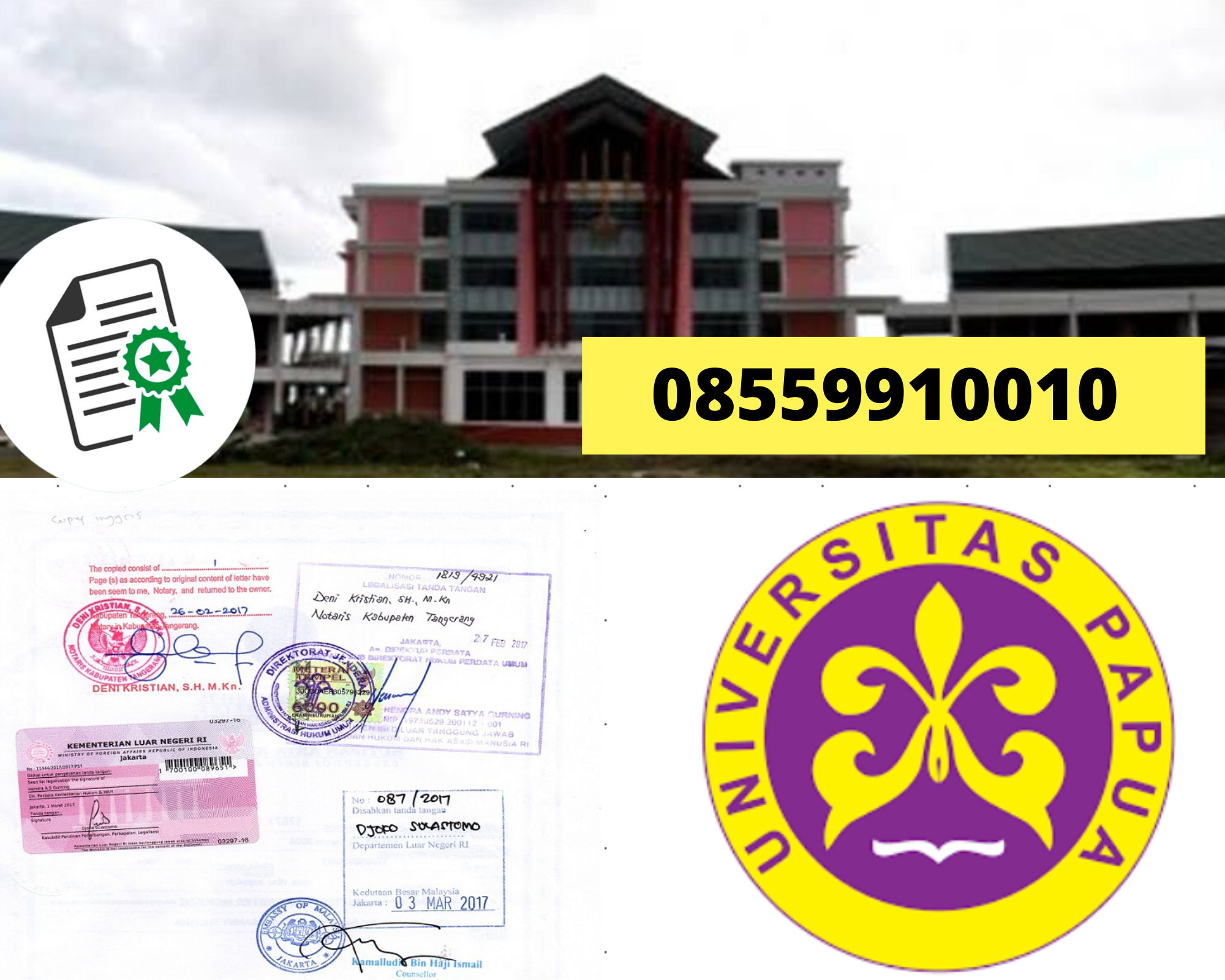 Legalisir Ijazah Universitas Papua Di Kemenristek Dikti || 08559910010
