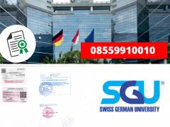Legalisir Ijazah Universitas Swiss German Di Kemenristek Dikti    08559910010