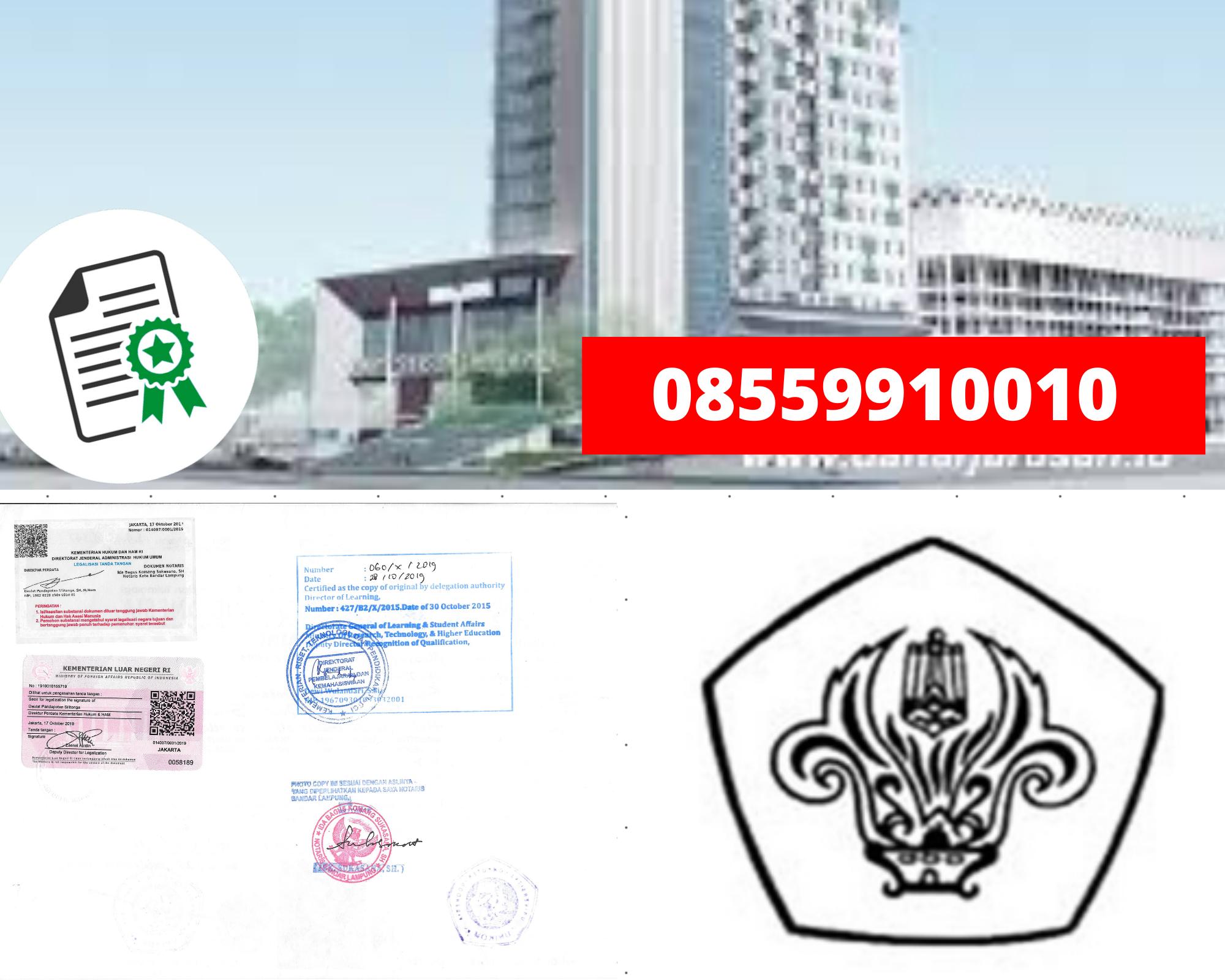 Legalisir Ijazah Universitas Tarumanagara Di Kemenristek Dikti || 08559910010
