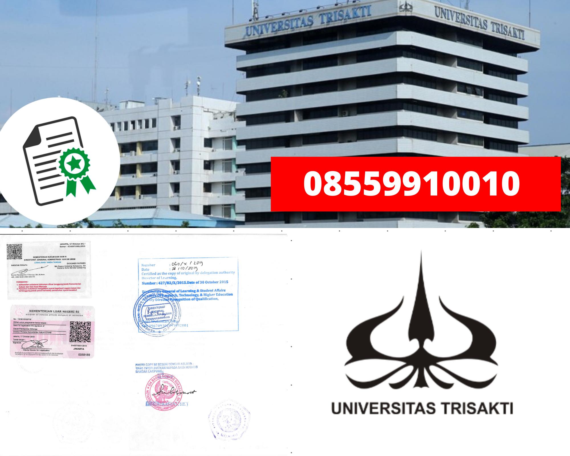 Legalisir Ijazah Universitas Trisakti  Di Kemenristek Dikti || 08559910010