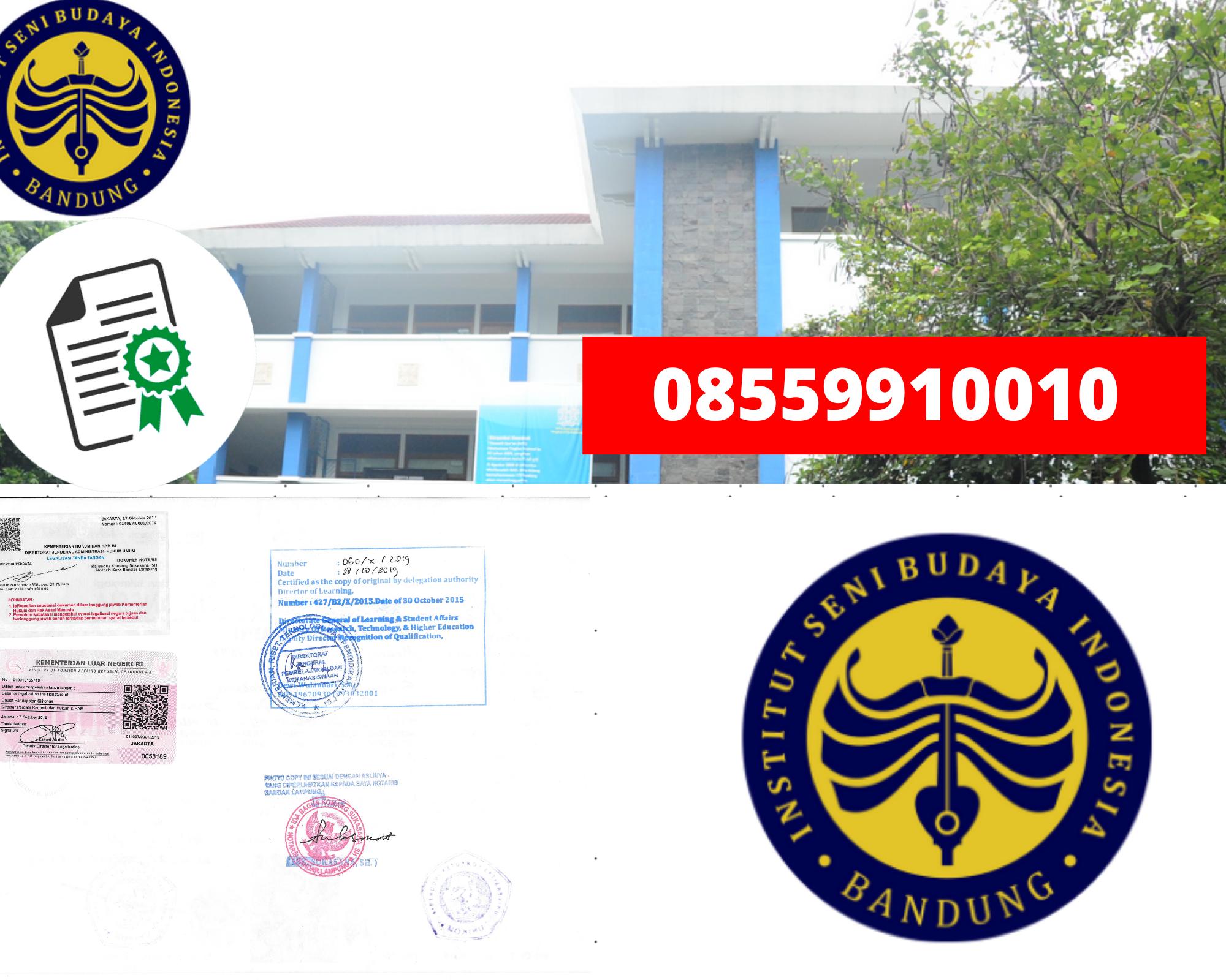 Legalisir Ijazah Institut Seni Dan Budaya Indonesia-Bandung Di Kemenristek Dikti || 08559910010