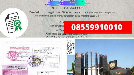 Jasa Legalisir Ijazah Institut Seni Indonesia – Yogyakarta Di Kemenristek Dikti || 08559910010