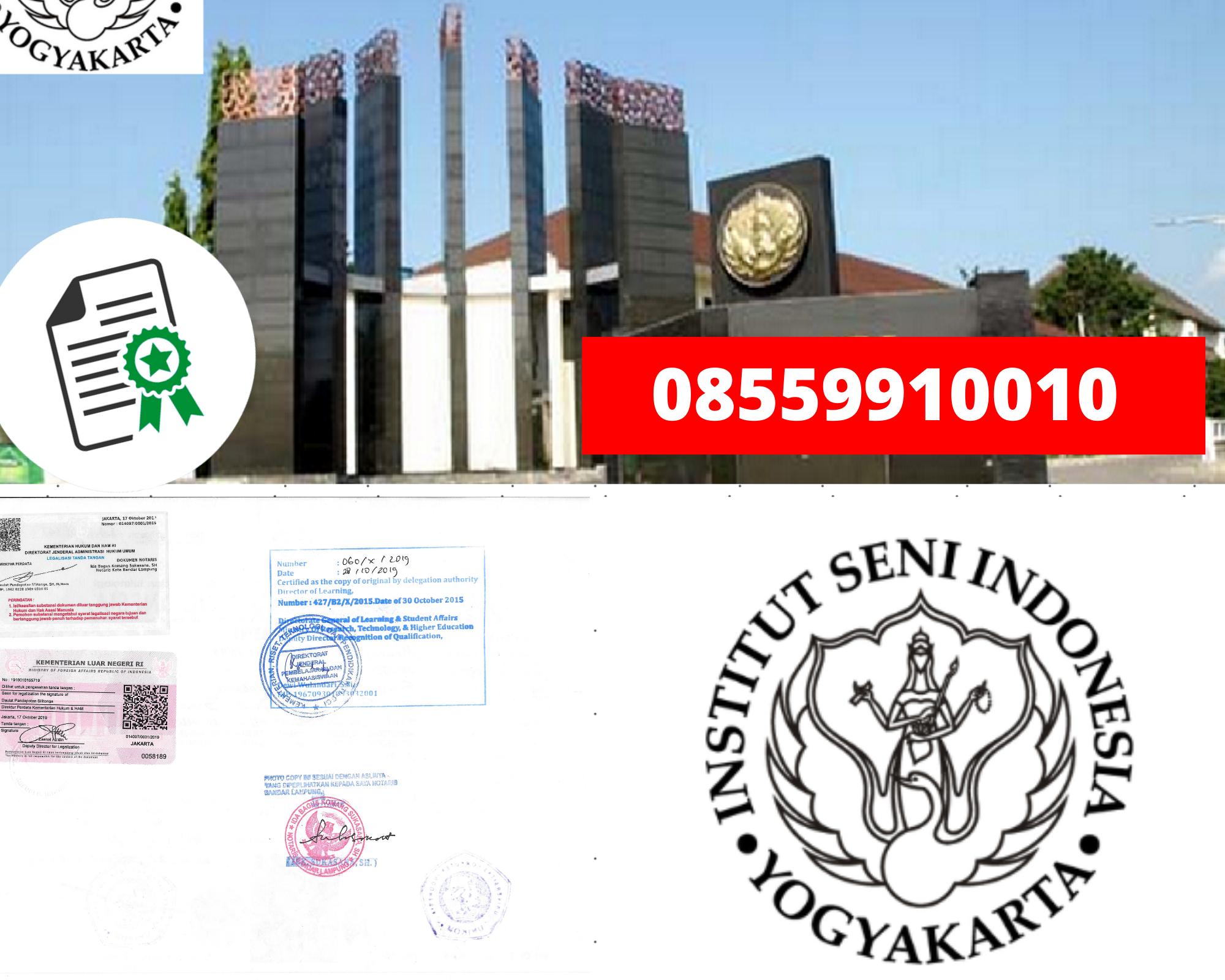 Legalisir Ijazah Institut Seni Indonesia-Yogyakarta Di Kemenristek Dikti || 08559910010
