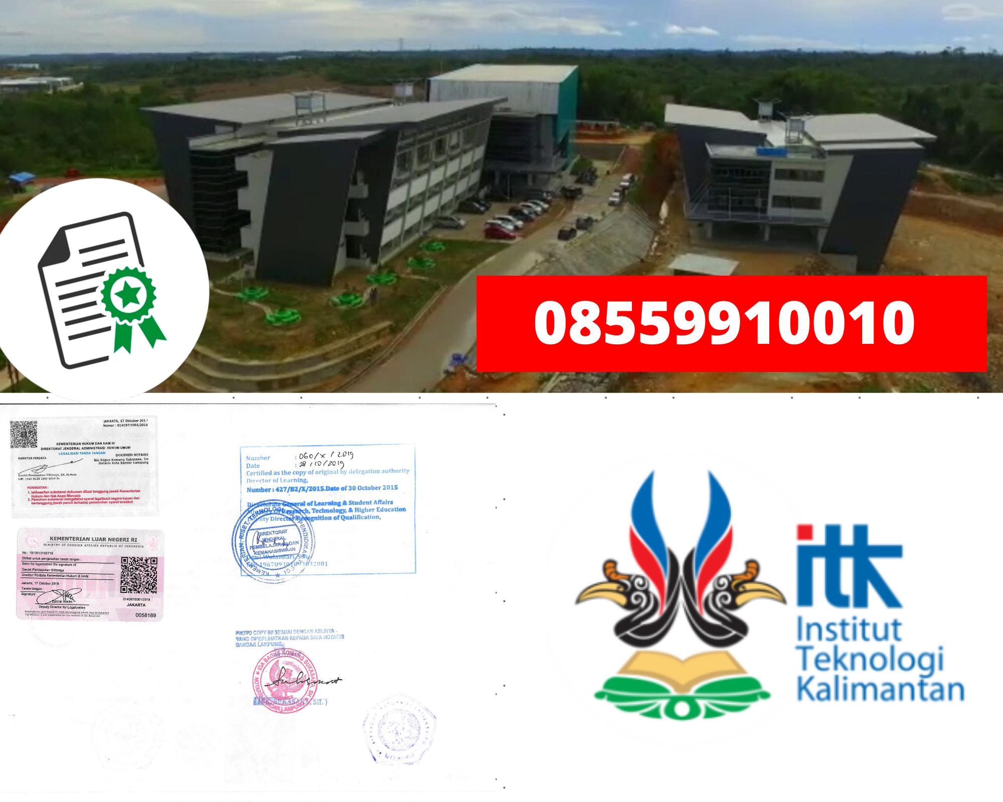 Legalisir Ijazah Institut Teknologi Kalimantan Di Kemenristek Dikti || 08559910010