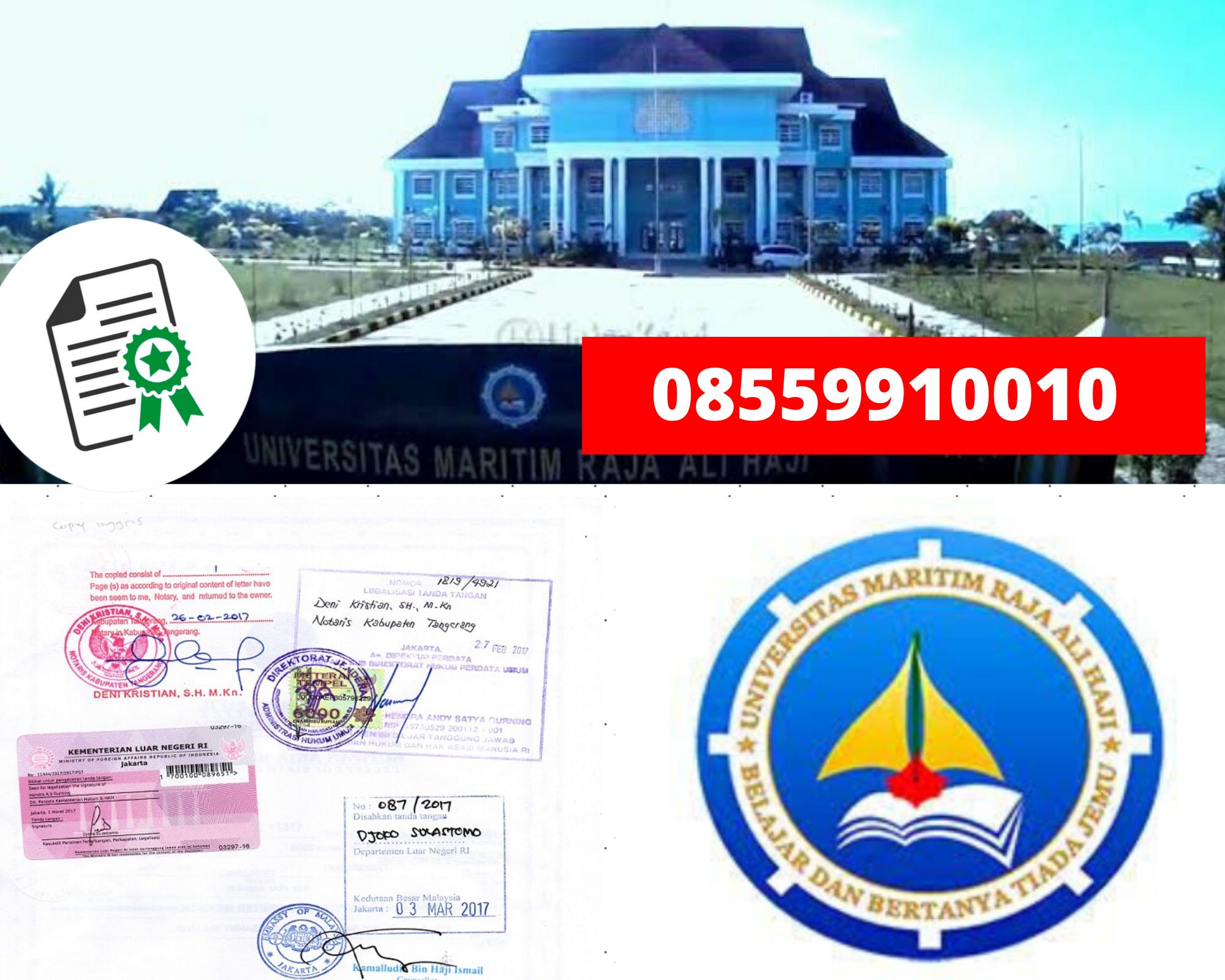 Legalisir Ijazah Universitas Maritim Raja Ali Haji Di Kemenristek Dikti || 08559910010