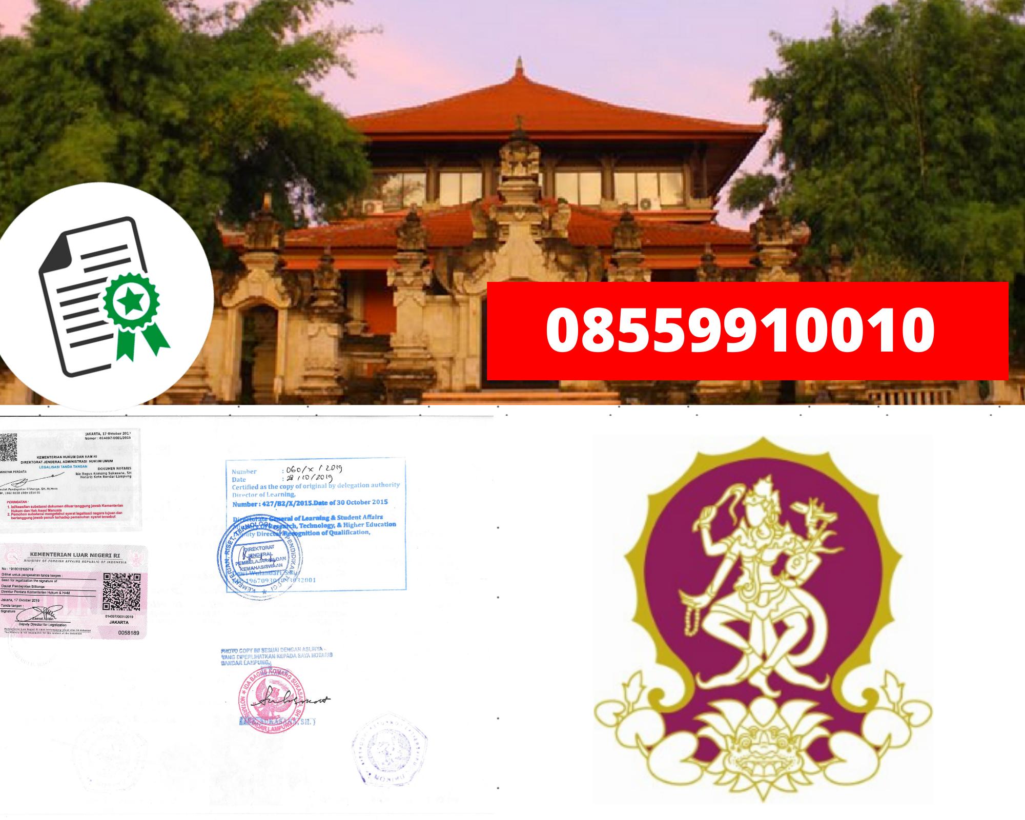 Legalisir Ijazah Institut Seni Indonesia-Denpasar Di Kemenristek Dikti || 08559910010