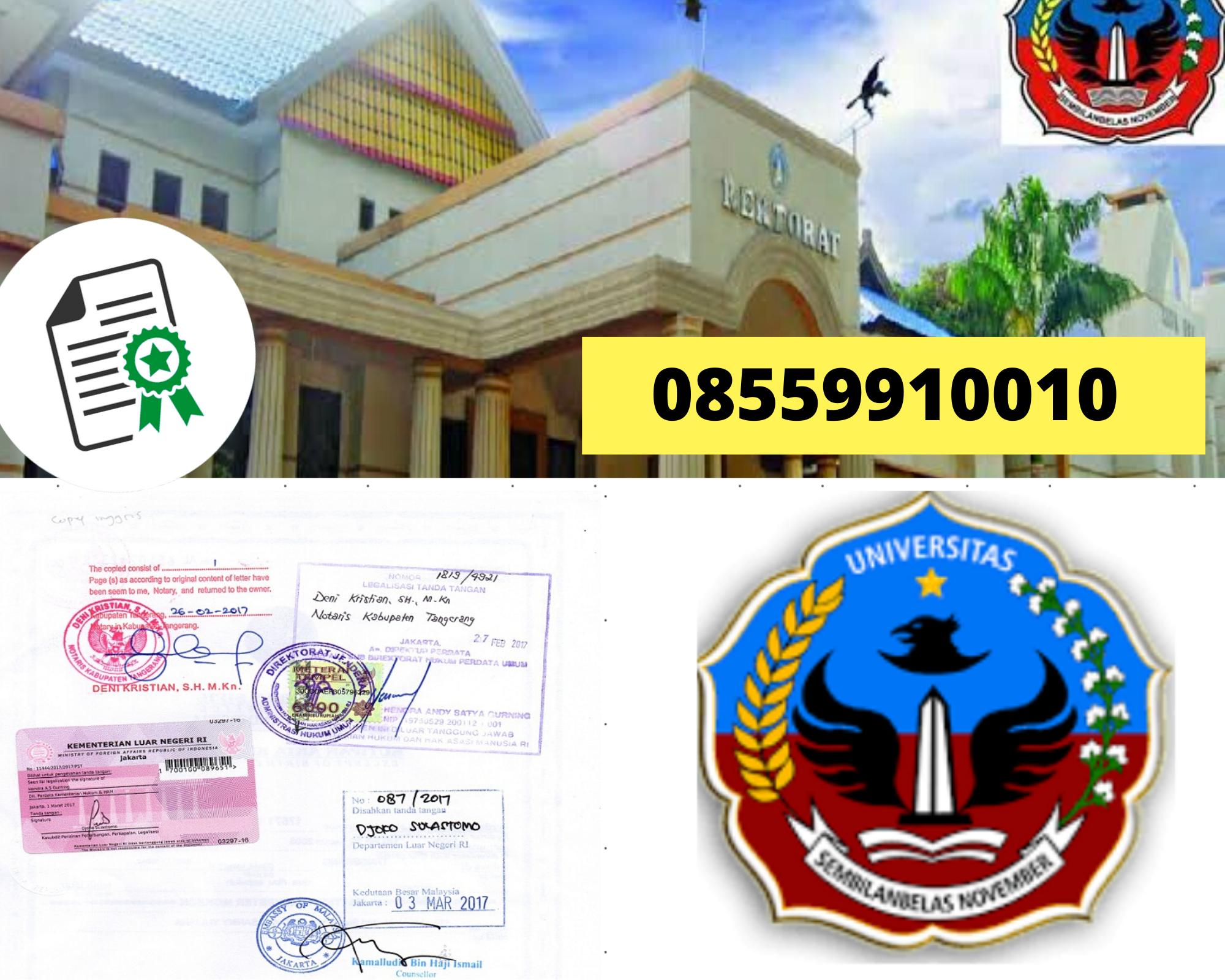 Legalisir Ijazah Universitas Sembilanbelas November Di Kemenristek Dikti || 08559910010