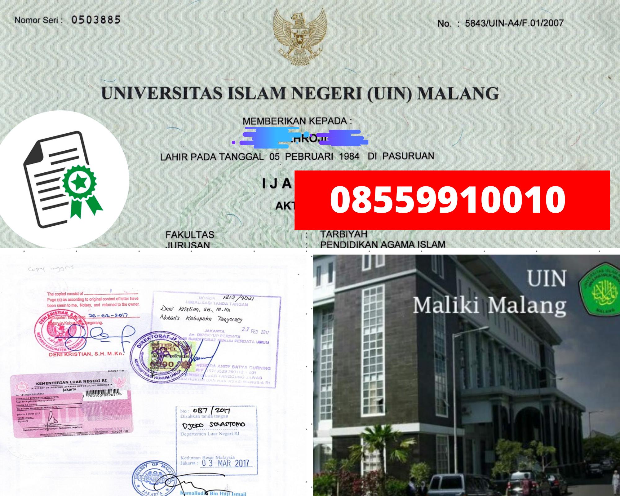 Jasa Legalisir Ijazah Universitas Islam Negeri Malang Di