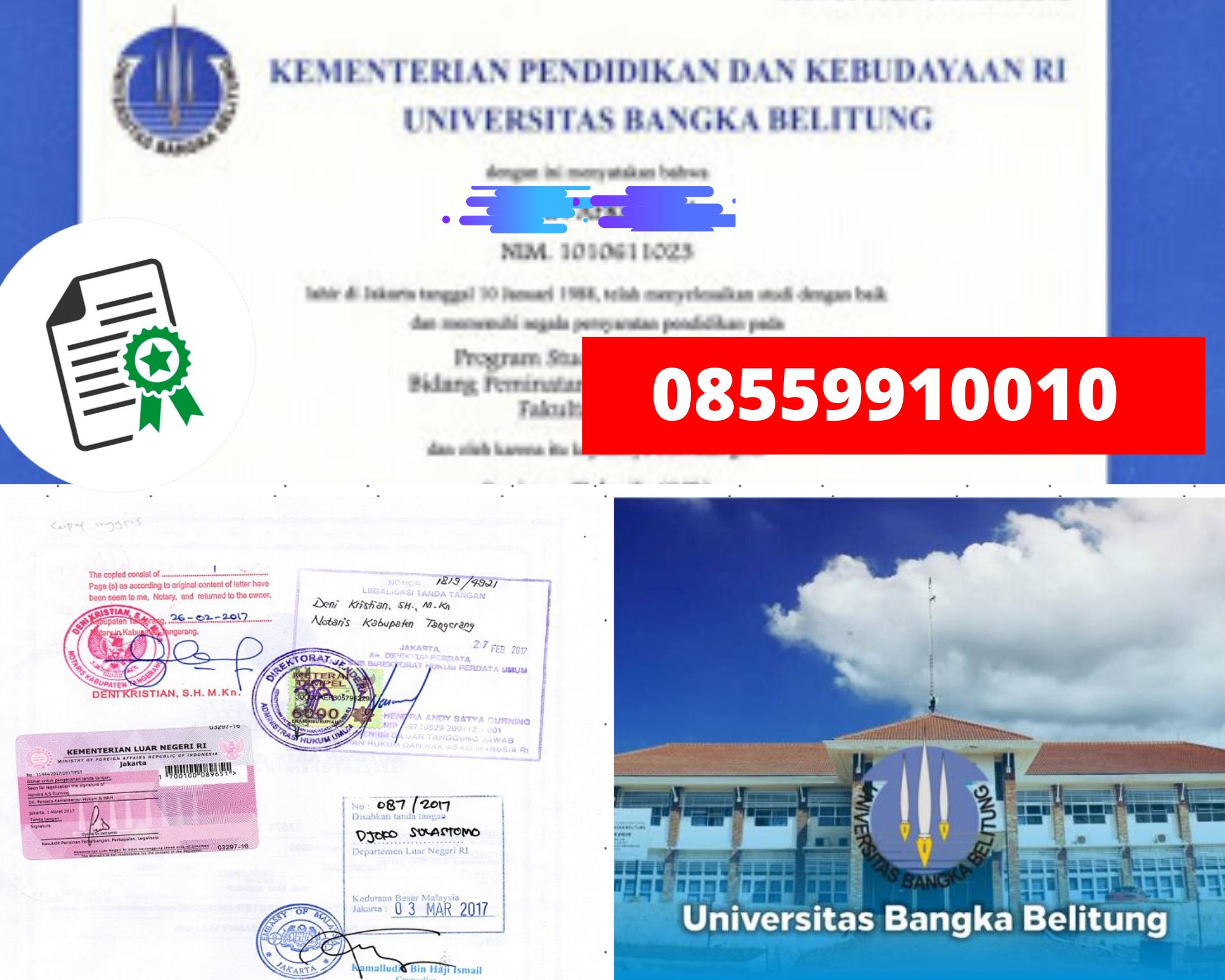 Legalisir Ijazah Universitas Bangka Belitung Di Kemenristek Dikti || 08559910010