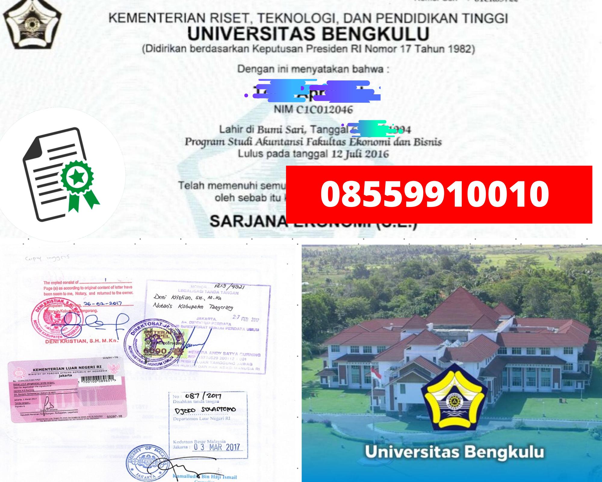 Legalisir Ijazah Universitas Bengkulu Di Kemenristek Dikti || 08559910010