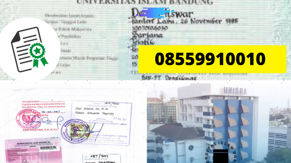 Jasa Legalisir Ijazah Universitas Islam Bandung Di Kemenristek Dikti || 08559910010