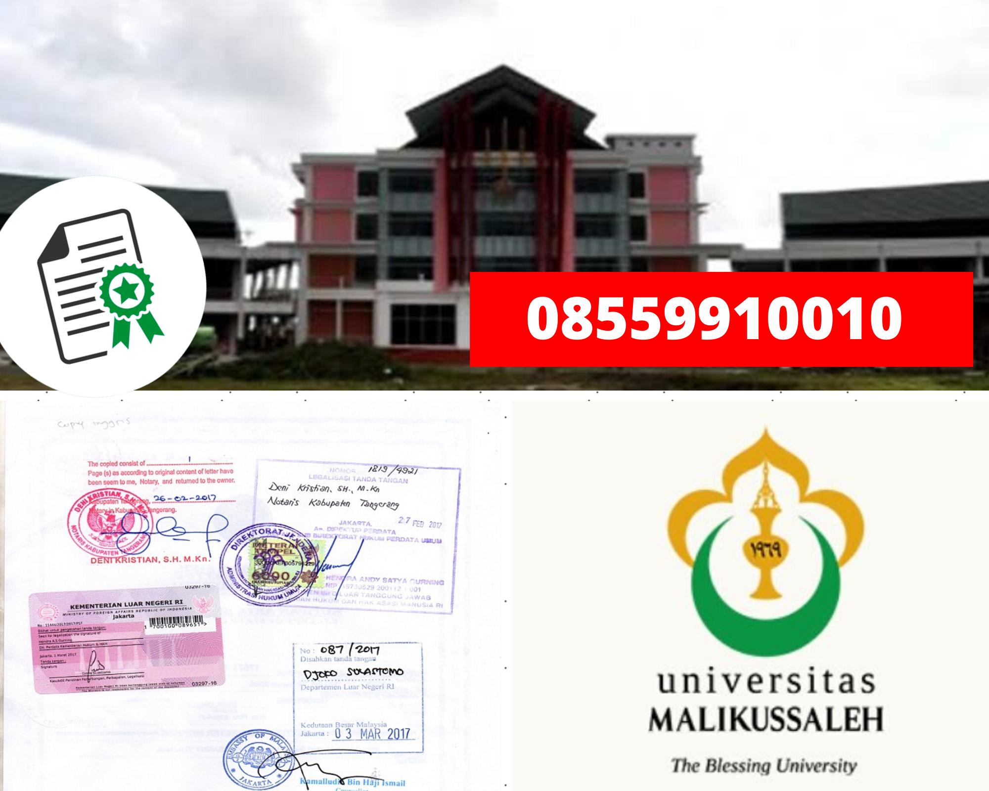 Legalisir Ijazah Universitas Malikussaleh Di Kemenristek Dikti || 08559910010