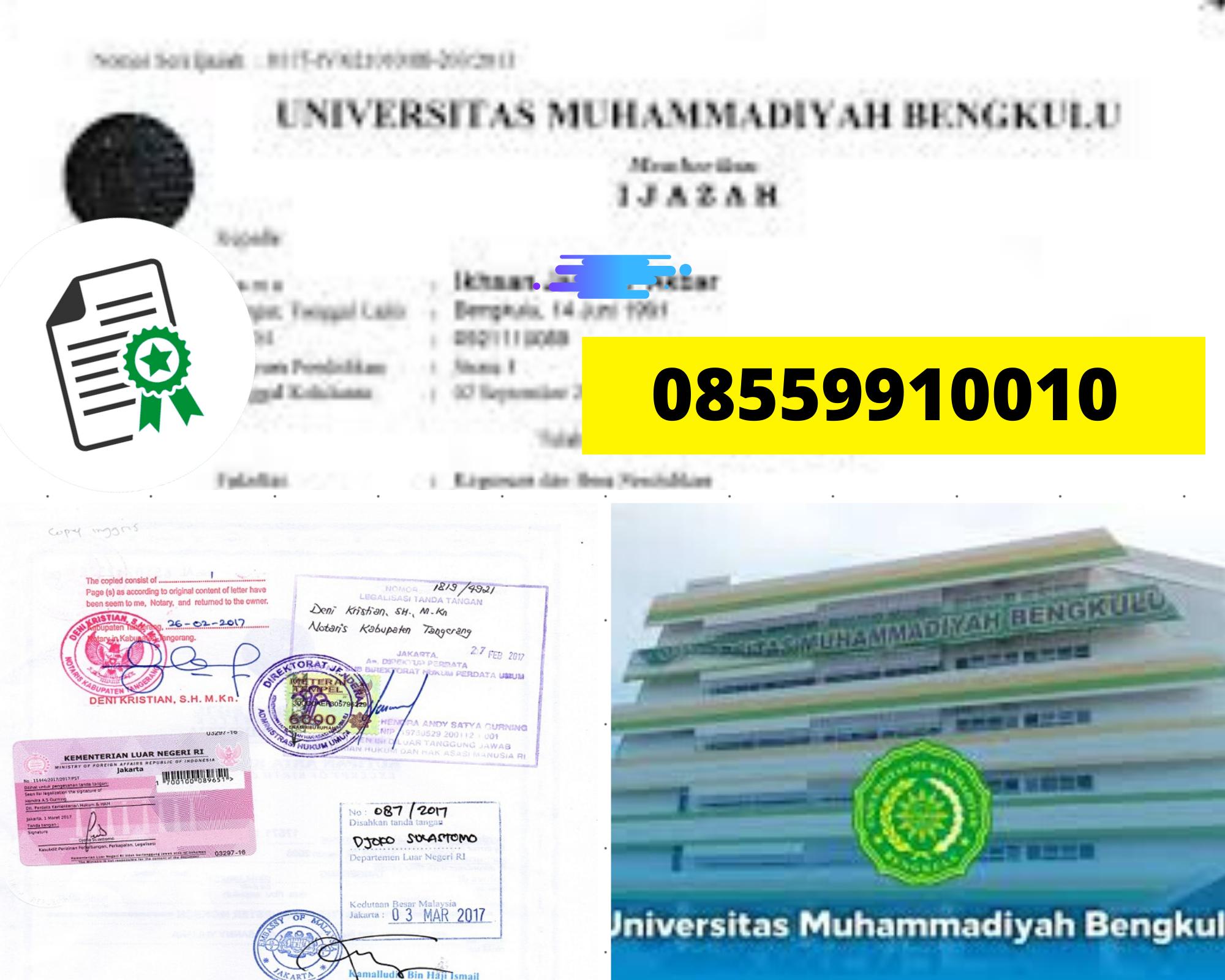 Legalisir Ijazah Universita Muhammadiyah Bengkulu  Di Kemenristek Dikti || 08559910010