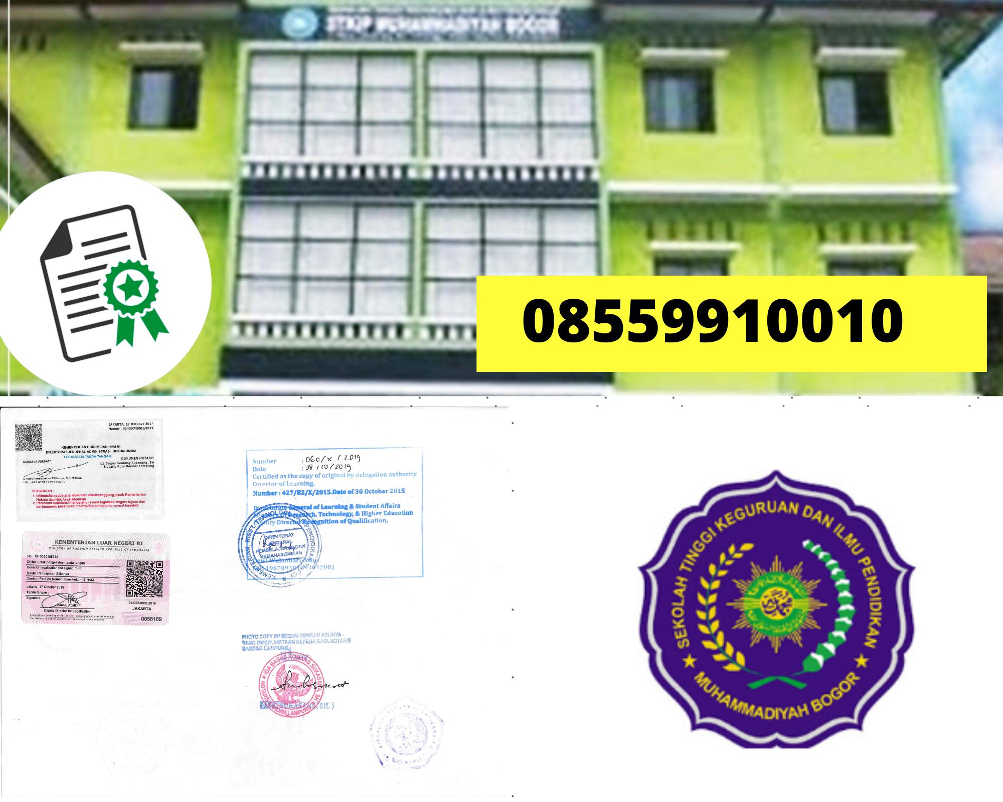 Legalisir Ijazah Universitas Muhammadiyah Bogor Di Kemenristek Dikti || 08559910010