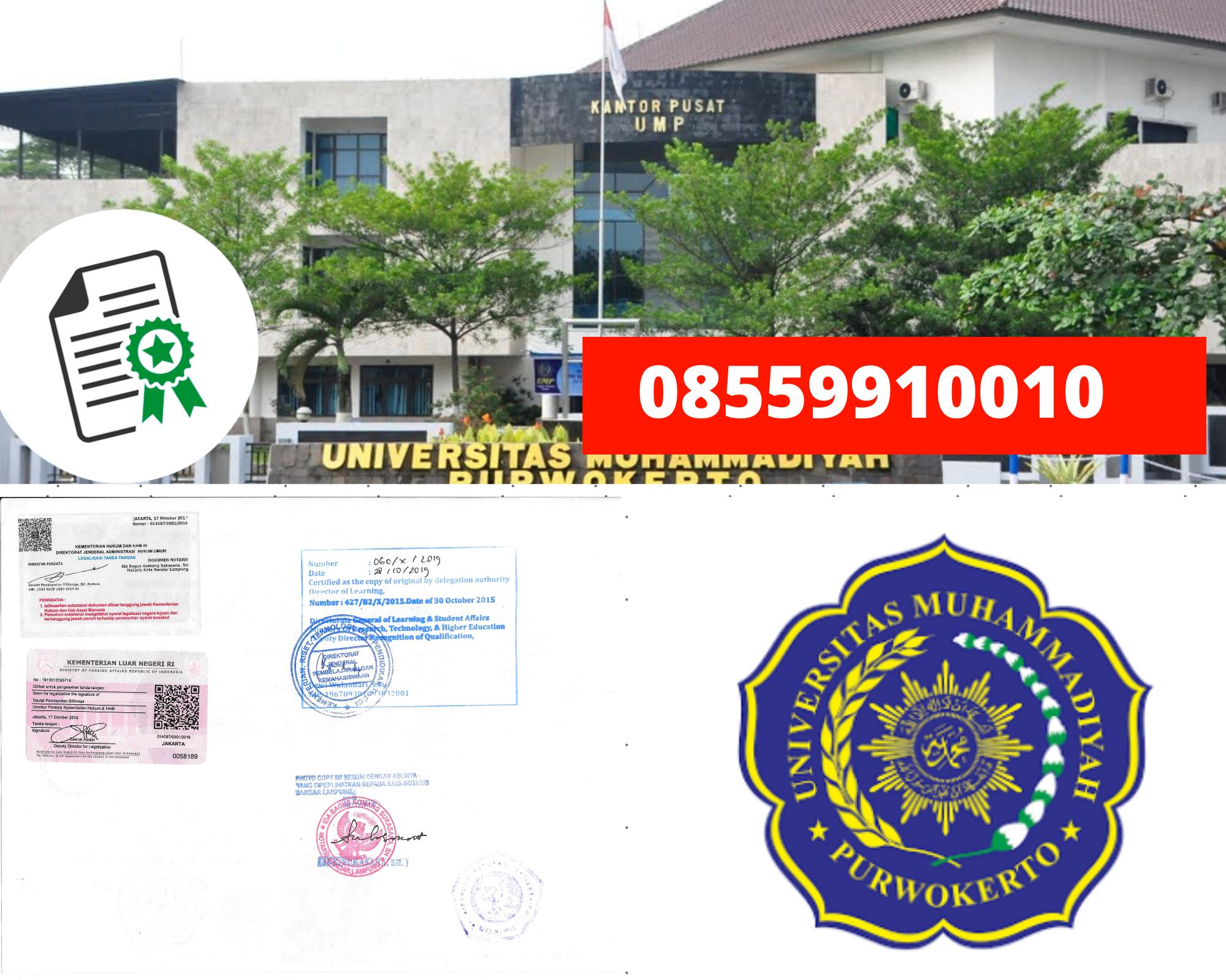 Legalisir Ijazah Universitas Muhammadiyah Purwokerto Di Kemenristek Dikti || 08559910010