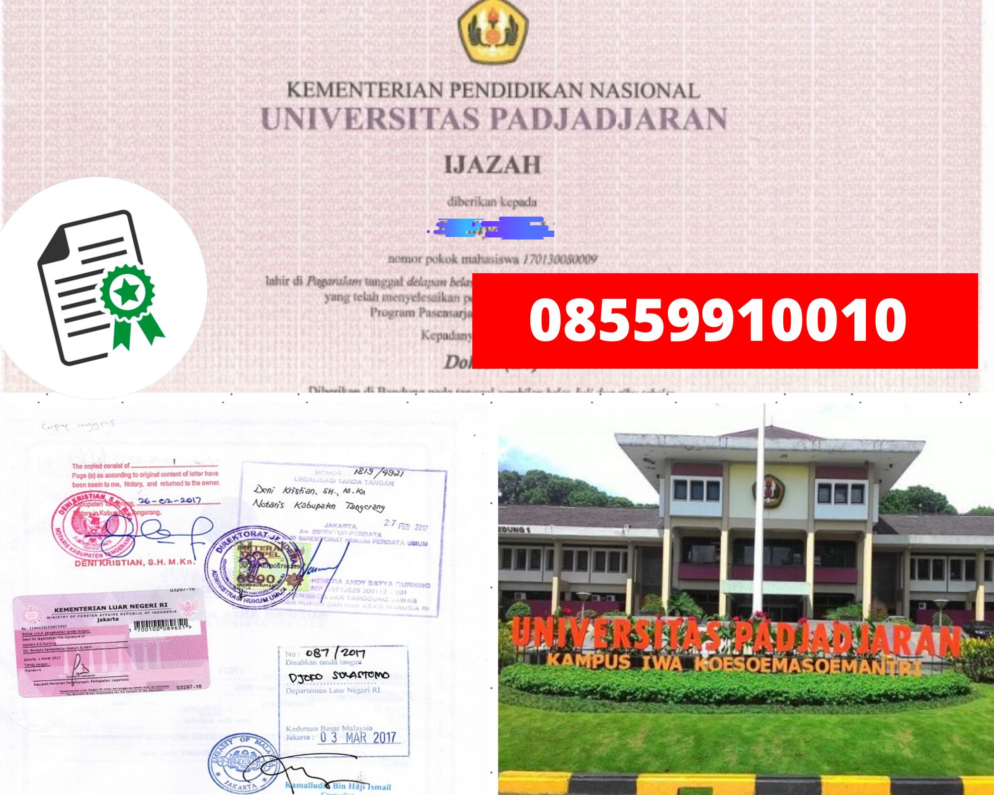 Legalisir Ijazah Universitas Padjadjaran Di Kemenristek Dikti || 08559910010