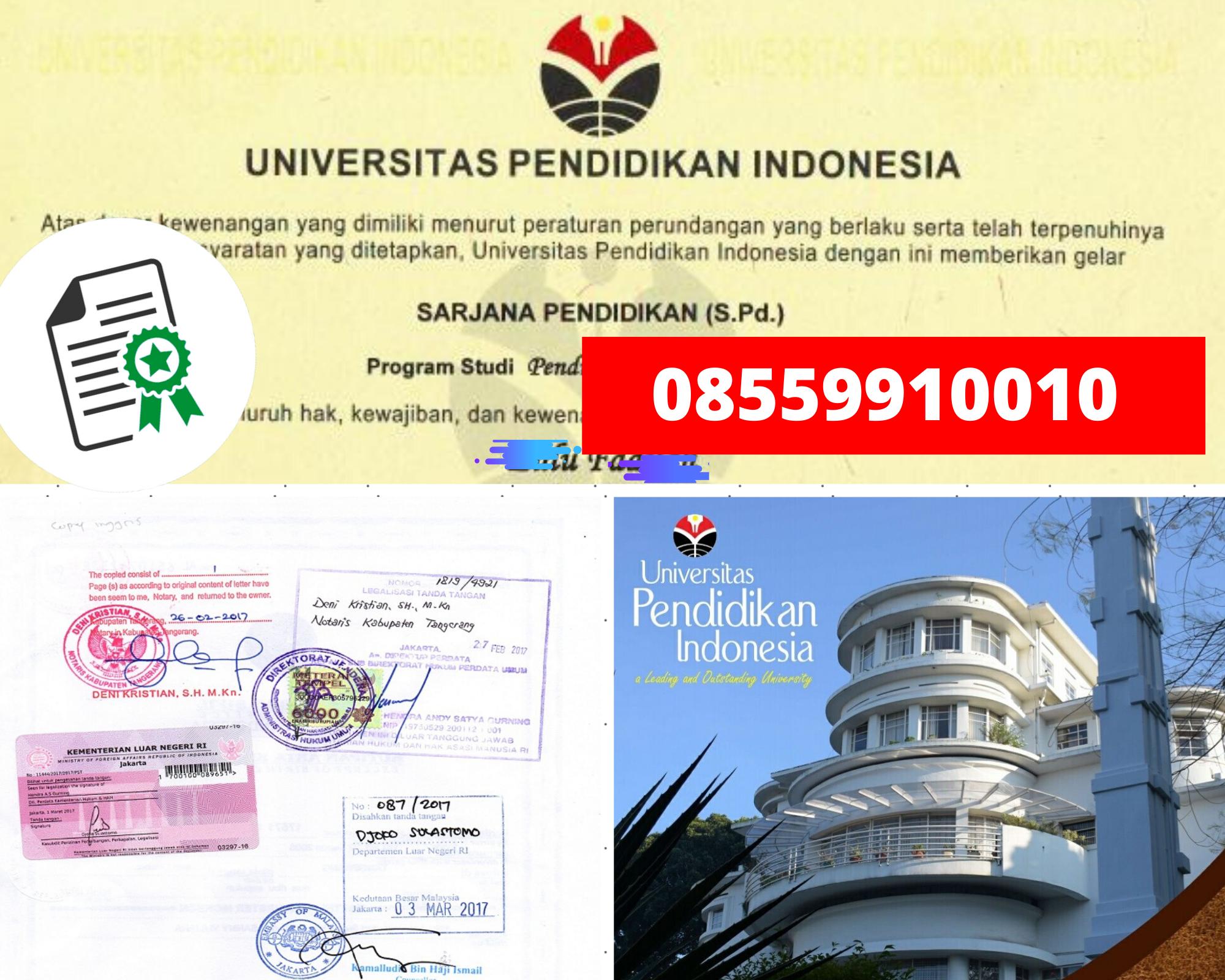 Legalisir Ijazah Universitas Pendidikan Indonesia Di Kemenristek Dikti || 08559910010