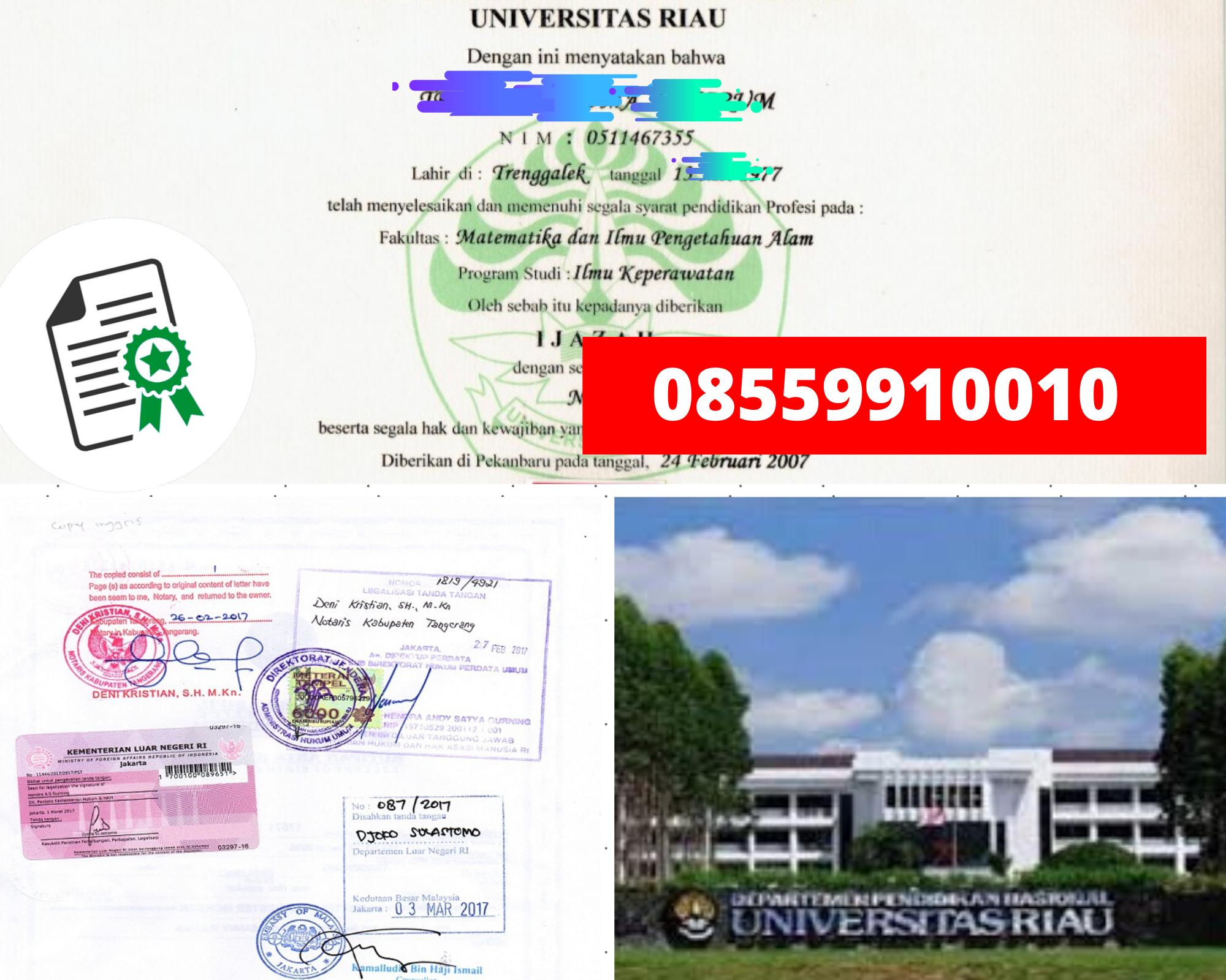 Legalisir Ijazah Universitas Riau Di Kemenristek Dikti    08559910010