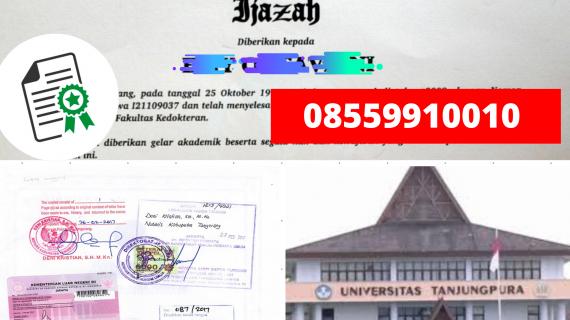 Jasa Legalisir Ijazah Universitas Tanjungpura Di Kemenristek Dikti    08559910010