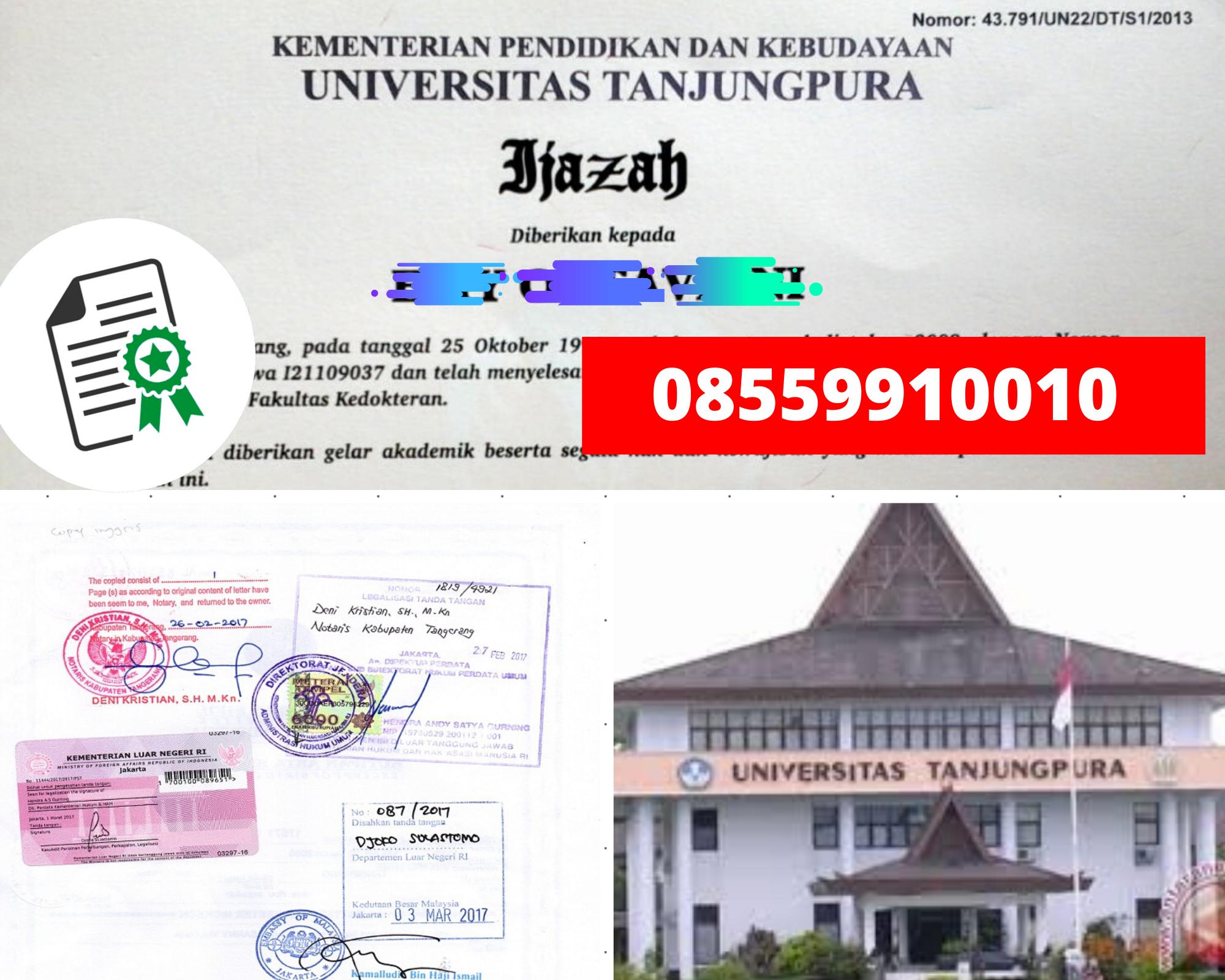 Legalisir Ijazah Universitas Tanjungpura Di Kemenristek Dikti    08559910010