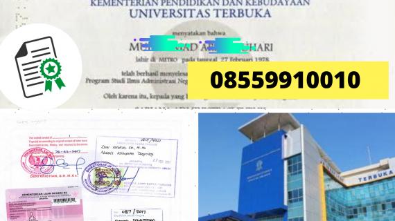 Jasa Legalisir Ijazah Universitas Terbuka Di Kemenristek Dikti || 08559910010
