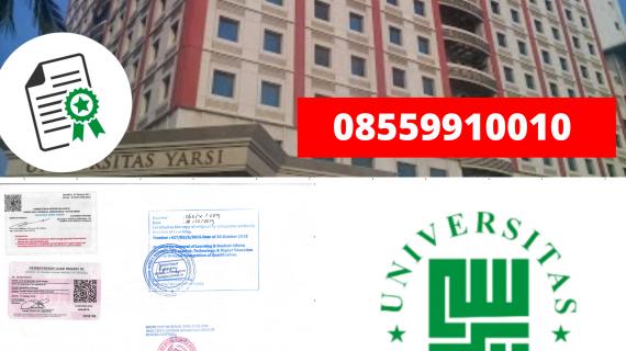 Jasa Legalisir Ijazah Universitas Yarsi Di Kemenristek Dikti || 08559910010