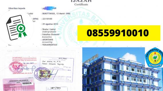 Jasa Legalisir Ijazah Universitas Batam Di Kemenristek Dikti || 08559910010
