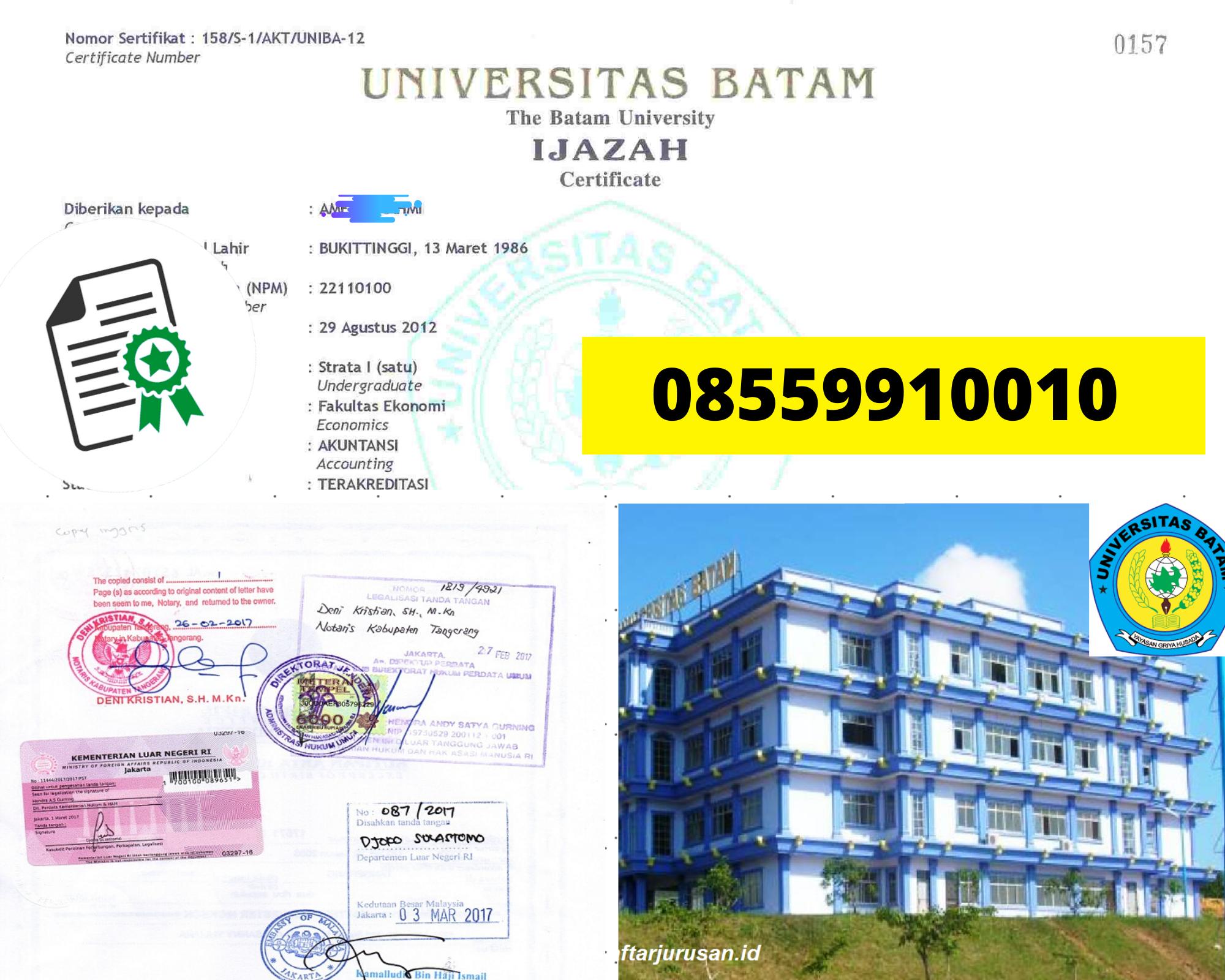 Legalisir Ijazah Universitas Batam Di Kemenristek Dikti || 08559910010