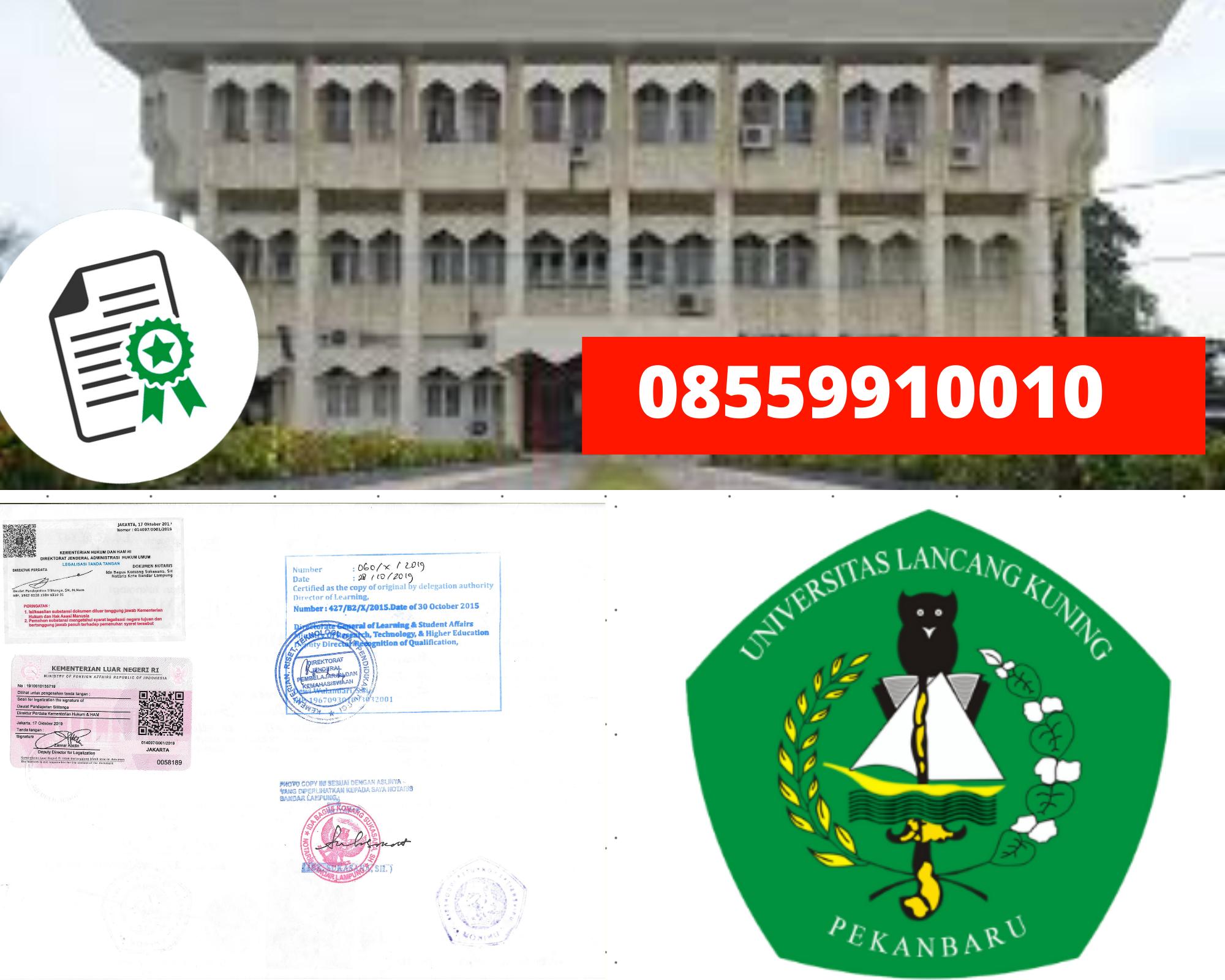Legalisir Ijazah Universitas Lancang Kuning Di Kemenristek Dikti || 08559910010