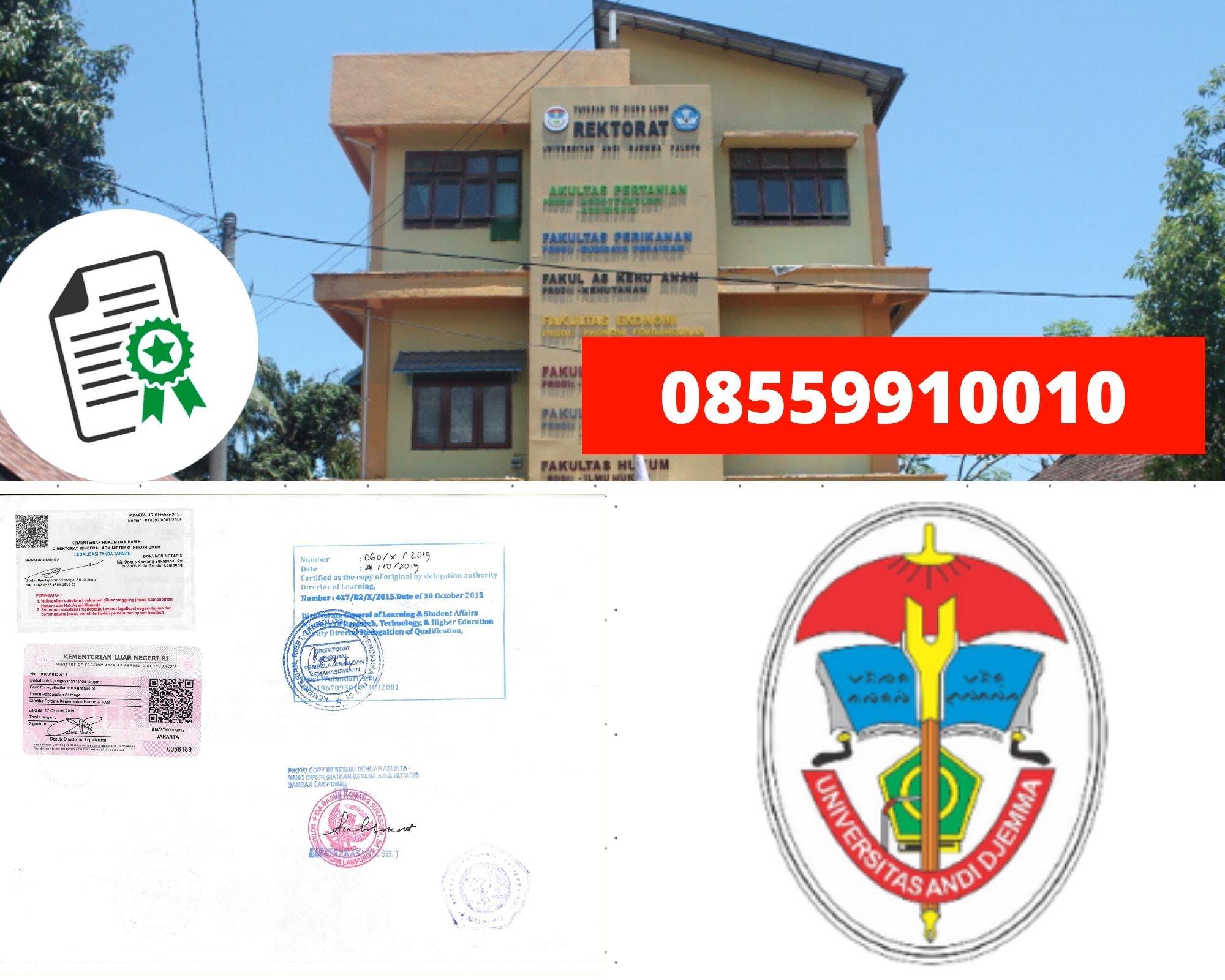 Legalisir Ijazah Universitas Andi Djemma di kemenristek Dikti || 08559910010