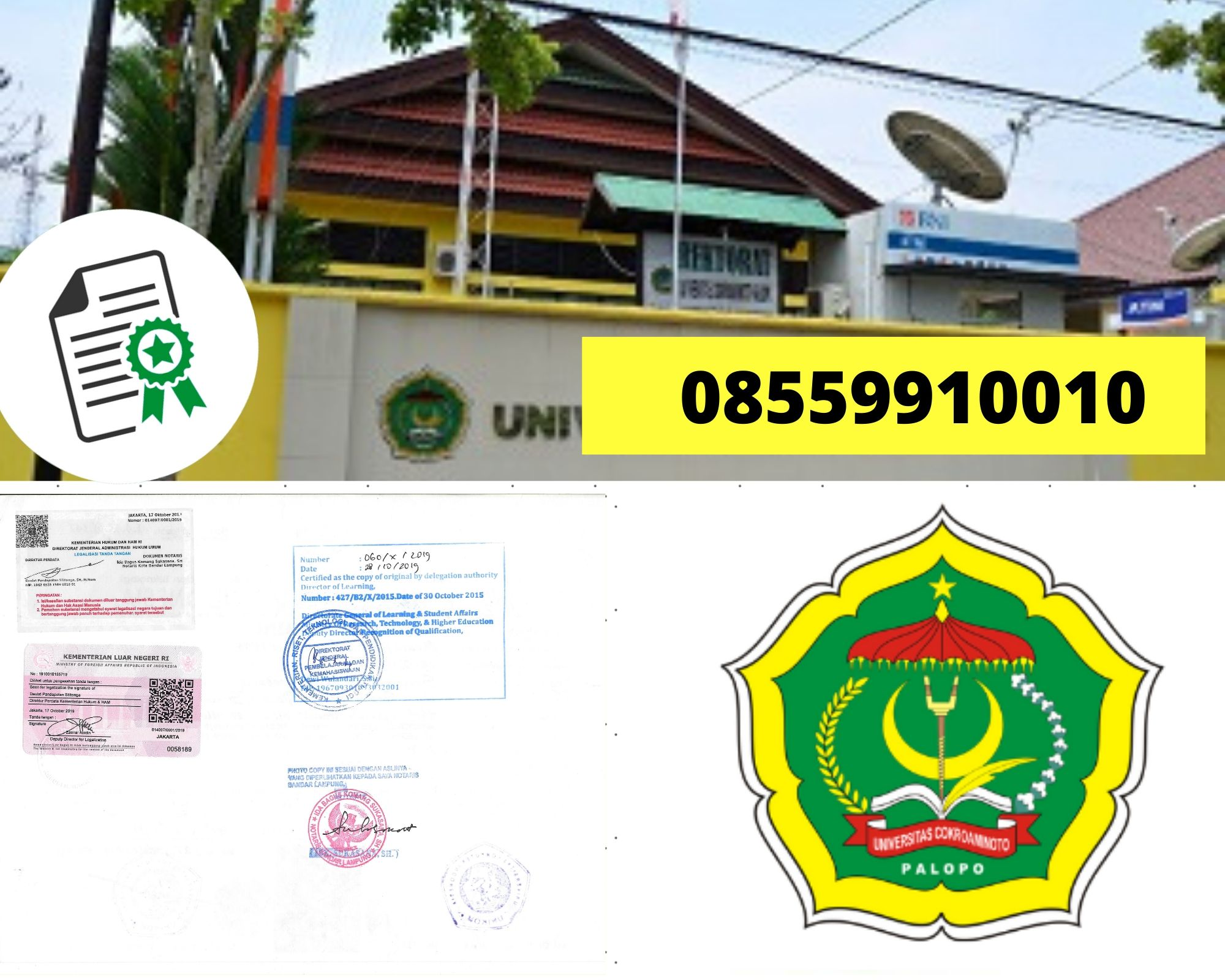 Legalisir Ijazah Universitas Cokroaminoto Palopo di kemenristek Dikti || 08559910010