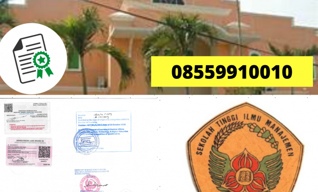 Jasa Legalisir Ijazah Sekolah Tinggi MANAJEMEN Di ...