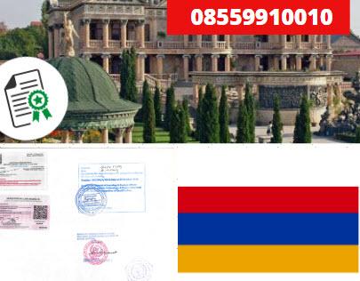 Jasa Legalisir KEMENKUMHAM di Armenia    08559910010