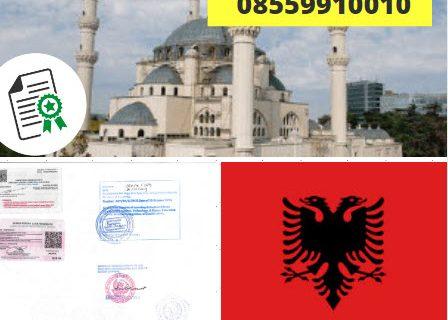 Jasa Legalisir KEMENKUMHAM di Albania || 08559910010