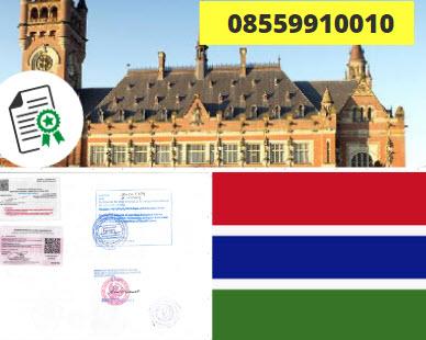 Jasa Legalisir KEMENKUMHAM di Gambia || 08559910010