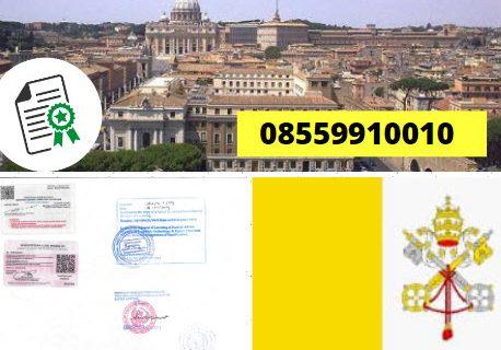 Jasa Legalisir KEMENKUMHAM di Kota Vatikan || 08559910010