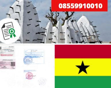 Jasa Legalisir Kementrian Luar Negeri (KEMENLU) di Ghana    08559910010