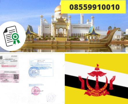 Jasa Legalisir Kementrian Luar Negeri (KEMENLU) di Brunei || 08559910010