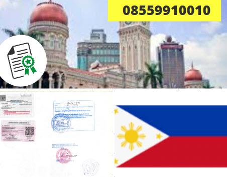 Jasa Legalisir Kementrian Luar Negeri (KEMENLU) di Filipina || 08559910010