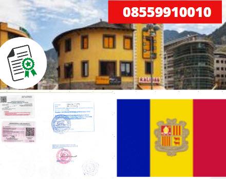 Jasa Legalisir Kementrian Luar Negeri (KEMENLU) di Andorra || 08559910010