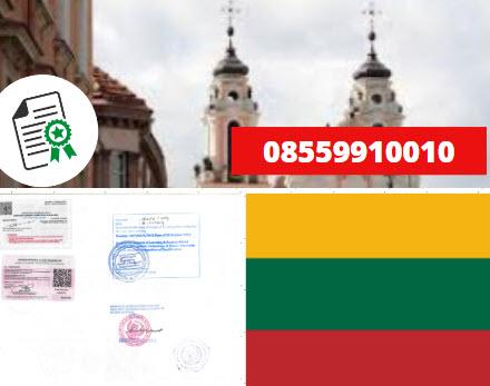 Jasa Legalisir Kementrian Luar Negeri (KEMENLU) di Lituania || 08559910010