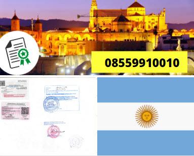 Jasa Legalisir Kementrian Luar Negeri (KEMENLU) di Argentina || 08559910010