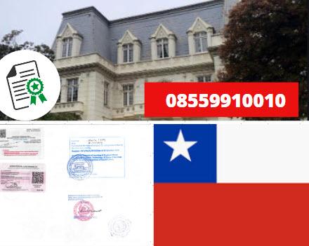 Jasa Legalisir Kementrian Luar Negeri (KEMENLU) di Chili    08559910010