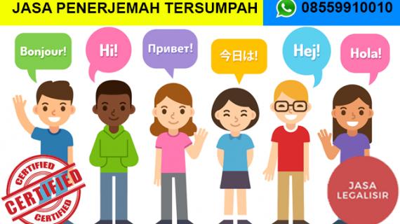 Jasa Penerjemah Tersumpah di Kota Pekalongan    08559910010