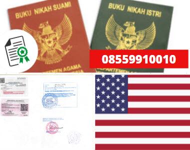 Jasa Legalisir Buku Nikah Di Kedutaan Amerika Serikat    08559910010
