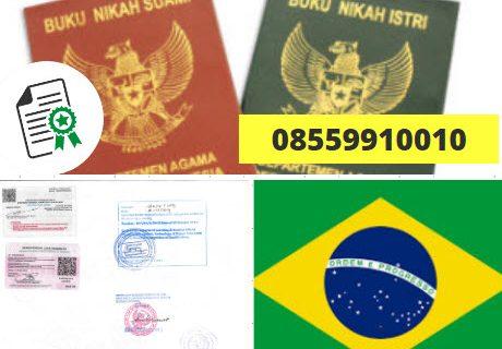 Jasa Legalisir Buku Nikah Di Kedutaan Brasil || 08559910010