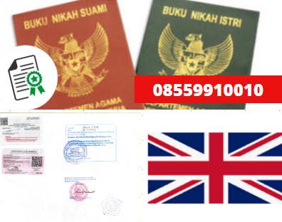 Jasa Legalisir Buku Nikah Di Kedutaan Britania Raya || 08559910010