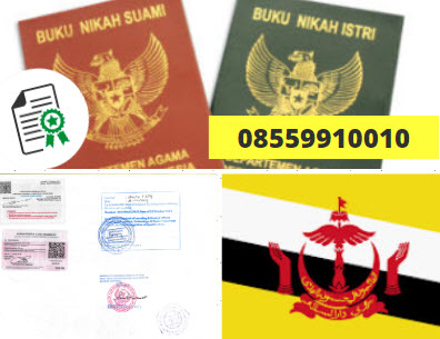 Jasa Legalisir Buku Nikah Di Kedutaan Brunei || 08559910010