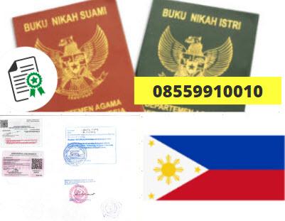 Jasa Legalisir Buku Nikah Di Kedutaan Filipina || 08559910010